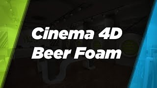 Cinema 4D Foam Tutorial with 3D Fluff
