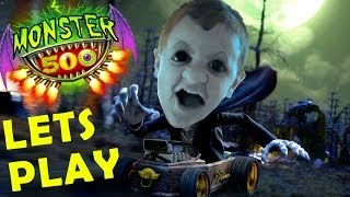 getlinkyoutube.com-Lets Play MONSTER 500 w/ Mike (Toys R Us Carting App) iOS Facecam Gameplay