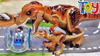 getlinkyoutube.com-lele 쥬라기월드 티라노사우루스 렉스 티렉스 공룡 다이노 레고 짝퉁 피겨 Lego knockoff lego jurassic world t-rex