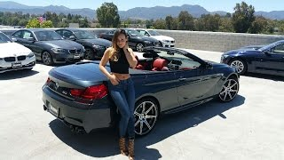 "getlinkyoutube.com-NEW 2017 BMW M6 Convertible / Exhaust Sound / 20"" M Wheels / BMW Review"