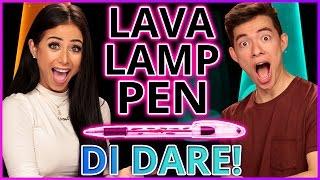 DIY LAVA LAMP PENS?! Di-Dare w/ Motoki Maxted & Amber Scholl