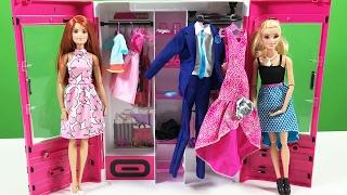getlinkyoutube.com-Barbie YENİ Gardırop   Oyuncak Açma