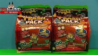 getlinkyoutube.com-The Trash Pack Series 4 Foil Two Packs Opening,Toy Review