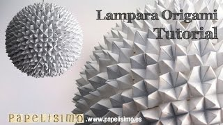 getlinkyoutube.com-Tutorial lampara origami comecocos