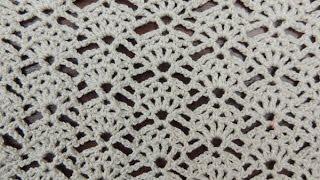 getlinkyoutube.com-Crochet: Punto Abanico # 12