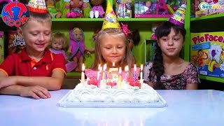 getlinkyoutube.com-День Рождения Ярославы! Сюрпризы Хелло Китти Парк Развлечений Подарки для Детей Hello Kitty Toys