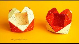 getlinkyoutube.com-Origami Valentine Heart-Box