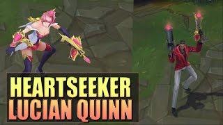 getlinkyoutube.com-HEARTSEEKER LUCIAN & QUINN Skins Spotlight Gameplay - League of Legends