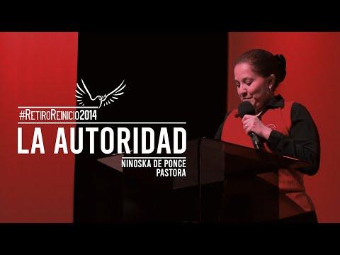 Pastora Ninoska de Ponce Tema La Autoridad Domingo pm