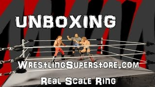 getlinkyoutube.com-Unboxing and Assembling Wrestling Superstore Real Scale Ring