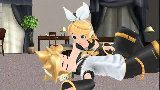 getlinkyoutube.com-[鏡音リン ・レン] Len x Rin Kagamine - This is not what you think it is! [MMD]