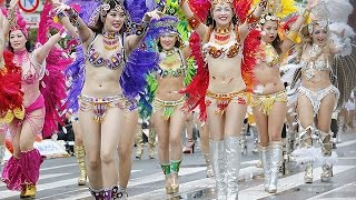getlinkyoutube.com-第34回浅草サンバカーニバル=躍動感あるリズム、華麗なステップで観客を魅了