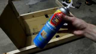 getlinkyoutube.com-Making a cheap archery target with Great Stuff foam insulation