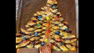 getlinkyoutube.com-Rezept / Rezepte: Blätterteig - Nuss Nougat - Weihnachtsbaum