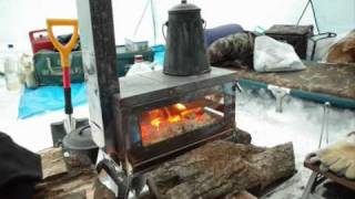 getlinkyoutube.com-笑`sの薪ストーブmade in Japan「焚き火の箱」wood stove for camping