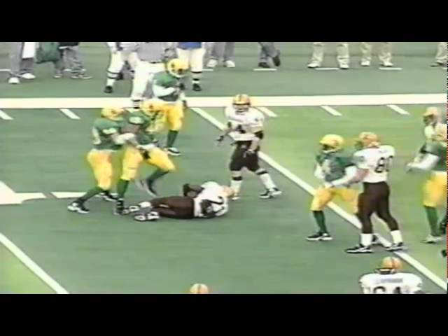 Oregon DE Saul Patu tackles ASU RB J.R. Redmond for a loss 11-14-1998