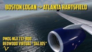 getlinkyoutube.com-Prepar3D: VATSIM ATC | PMDG NGX | Boston - Atlanta | Delta Airlines