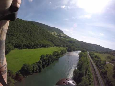 Landing a MrBill from the Millau Viaduct.