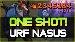 getlinkyoutube.com-ACTUAL ONE SHOT! - URF NASUS ft. Redmercy | League of Legends