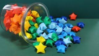 "getlinkyoutube.com-折り紙「星」レインボースターズの折り方 How to make ""Rainbow Stars"" Origami"