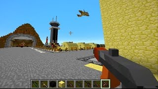 Minecraft Mods - GUN MOD DEATHMATCH in MILITARY BASE with The Pack