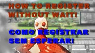 getlinkyoutube.com-Como se registrar no aottg sem espera/ How to register in aottg without waiting