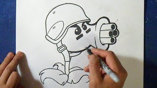 getlinkyoutube.com-Cómo dibujar Plants vs Zombies 2 | How to draw Plants vz Zombies