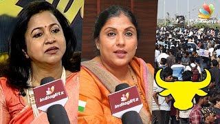getlinkyoutube.com-Got Emotional Seeing Youngsters Silently Protesting for Jallikattu | Sripriya & Radhika Interview