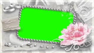 getlinkyoutube.com-beautiful wedding frame in green screen free stock footage