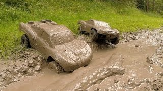 getlinkyoutube.com-Traxxas Slash 4x4s KillerBodyRC Mud Bogging!