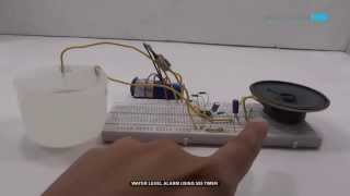 getlinkyoutube.com-Water Level Alarm using 555 Timer