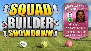 REAL LIFE FOOTBALL SQUAD BUILDER SHOWDOWN!!! PINK RONALDINHO!!! Fifa 15 Squad Builder Duel
