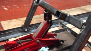 getlinkyoutube.com-Motorcycle work bench/lift. Part 3.