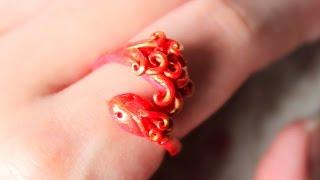 getlinkyoutube.com-DIY: Phoenix Ring Polymer Clay Tutorial (Collab w/ NerdECrafter)