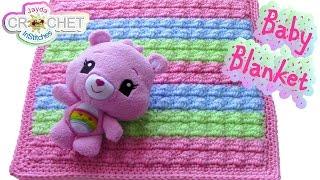 getlinkyoutube.com-Crochet Bobble Stitch Baby Blanket Pattern