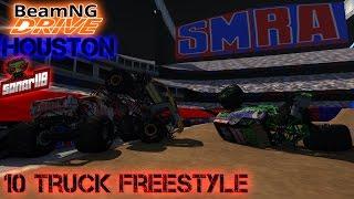 getlinkyoutube.com-BeamNG.drive Monster Jam: SMRA Houston 10 Truck Freestyle Event (Read the description)