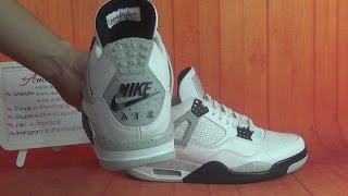 getlinkyoutube.com-Authentic Air Jordan 4 OG 89 White Cement 2016 HD Unboxing Review From authenticaj