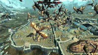 getlinkyoutube.com-Skyrim: 100 Dragons vs Whiterun