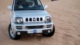 getlinkyoutube.com-Liwa Team suzuki jimny & land cruiser in UAE Desert سويحان استيشن وسوزوكي
