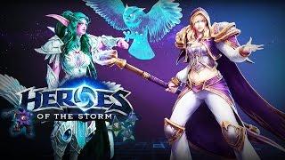 getlinkyoutube.com-♥ Heroes of the Storm (Gameplay) - Tyrande + Jaina Duo Queue (Hots Hero League)