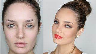 getlinkyoutube.com-Warm Summer Makeup: Red Lips and Orange Eyes