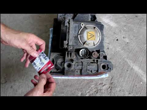 Замена лампочек габаритов в фаре Land Rover Discovery 3 Ленд Ровер Дискавери 3 2006 года