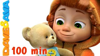 getlinkyoutube.com-Teddy Bear, Teddy Bear, Turn Around | Nursery Rhymes for Kids and Children | Baby Song Dave and Ava