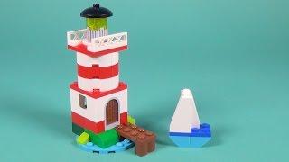 """getlinkyoutube.com-Lego Lighthouse Building Instructions - Lego Classic 10692 """"How To"""""""