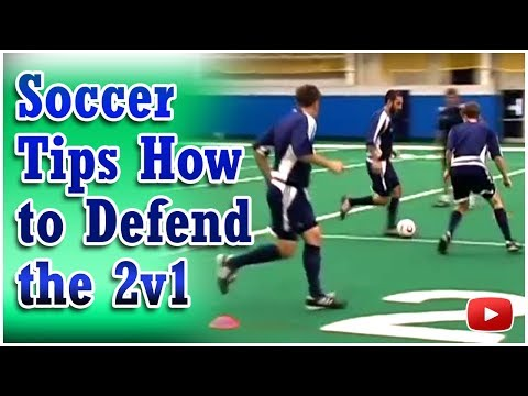Soccer Defensive Drill - 2v1 How to Defend the Attack - Coach Joe Luxbacher