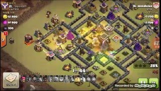 "getlinkyoutube.com-How to beat internet popular TH9 ""The Tailor"" clan war base GOVAHO attack strategy"
