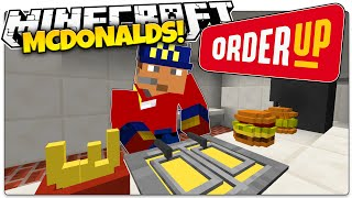 getlinkyoutube.com-Minecraft | FIRST DAY AT MCDONALDS! | Order Up Custom Map (Minecraft Roleplay)