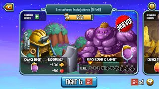 getlinkyoutube.com-Monster Legends l Mazmorra Los Señores Trabajadores (Dificil) l Recompensa Monstruo Worker Hulk