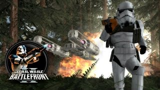 getlinkyoutube.com-Star Wars Battlefront II Mods (PC) HD: Sky to Ground Map Pack 3 - Battle of Endor