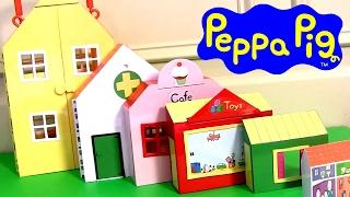 getlinkyoutube.com-Playset O Mundo da Peppa Pig com 6 Casas TOYSBR Casa de Bonecas | Padaria | Clinica Medica